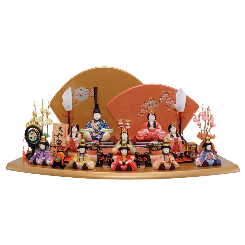 雛人形 一秀 コンパクト 木目込み 十人飾り K-6 おしゃれ かわいい 同時購入にて木札1円対象商品