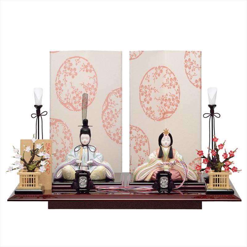 雛人形 一秀 コンパクト 木目込み 親王飾り A-103 おしゃれ かわいい 同時購入にて木札1円対象商品