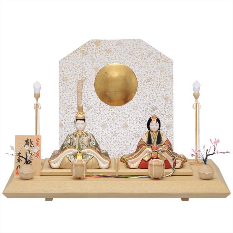 雛人形 一秀 コンパクト 木目込み 親王飾り B-110 おしゃれ かわいい 同時購入にて木札1円対象商品