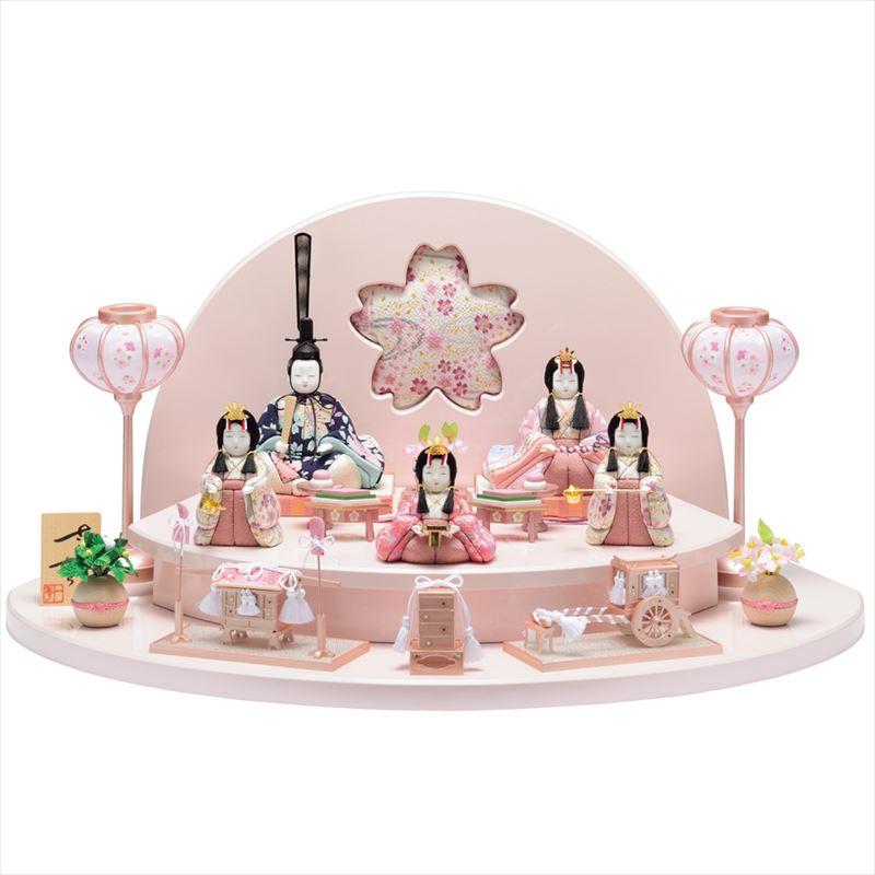 雛人形 一秀 コンパクト 木目込み 五人飾り C-105 おしゃれ かわいい 同時購入にて木札1円対象商品