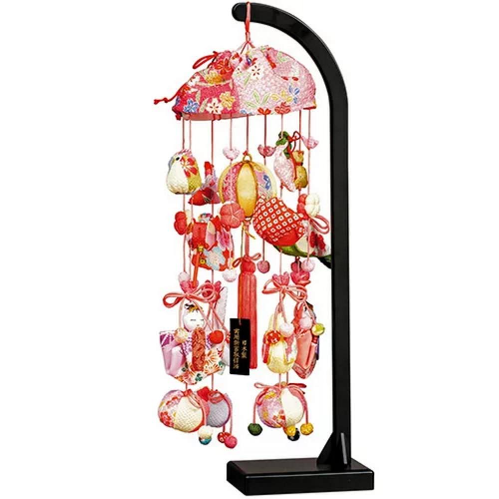 名入れ つるし雛 つるし飾り さげもん 10号 桜あかり 雛人形 スタンド付 高さ41cm 日本製 ひな人形