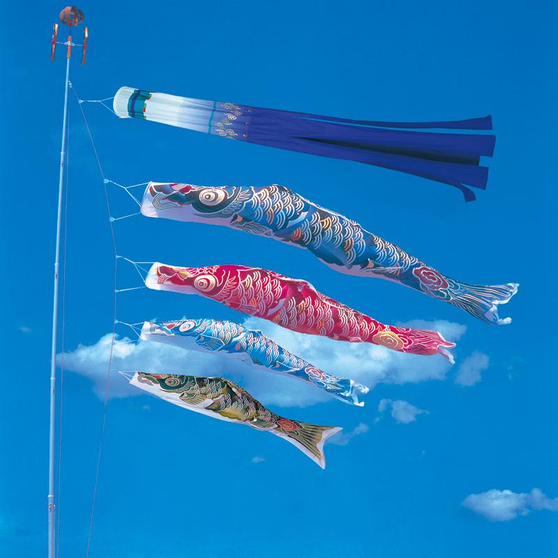 【彩雲錦鯉】【6m】【7点 鯉4匹 】専用吹き流し錦鯉 鯉のぼり 大型セット【送料無料】