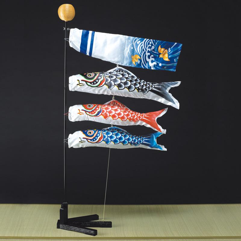 【室内鯉のぼり】錦鯉 ミニ座敷鯉物語 羽衣 80cmセット こいのぼり 五月人形 内飾り 室内飾り