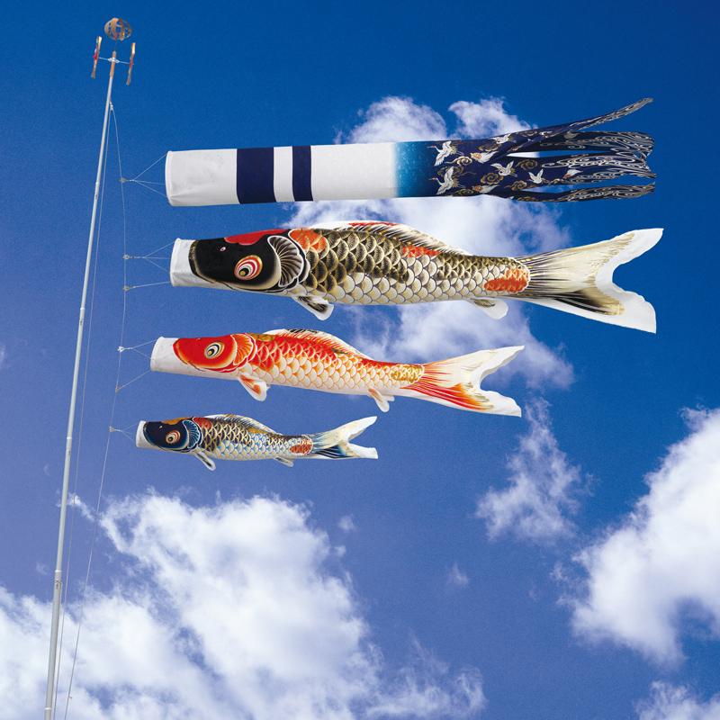 【吉祥天錦鯉】【4m】【6点 鯉3匹 】専用吹き流し錦鯉 鯉のぼり 大型セット【こいのぼり】【送料無料】