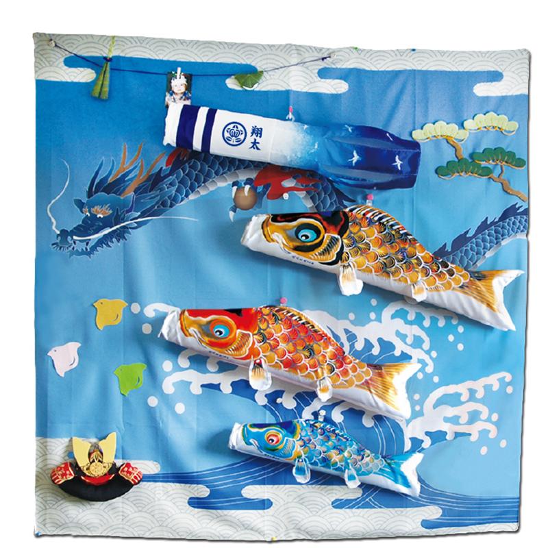 【室内鯉のぼり】室内鯉飾りこいのぼり キャンバス鯉のぼり《祝》京錦 徳永鯉 こいのぼり 五月人形 内飾り 室内飾り