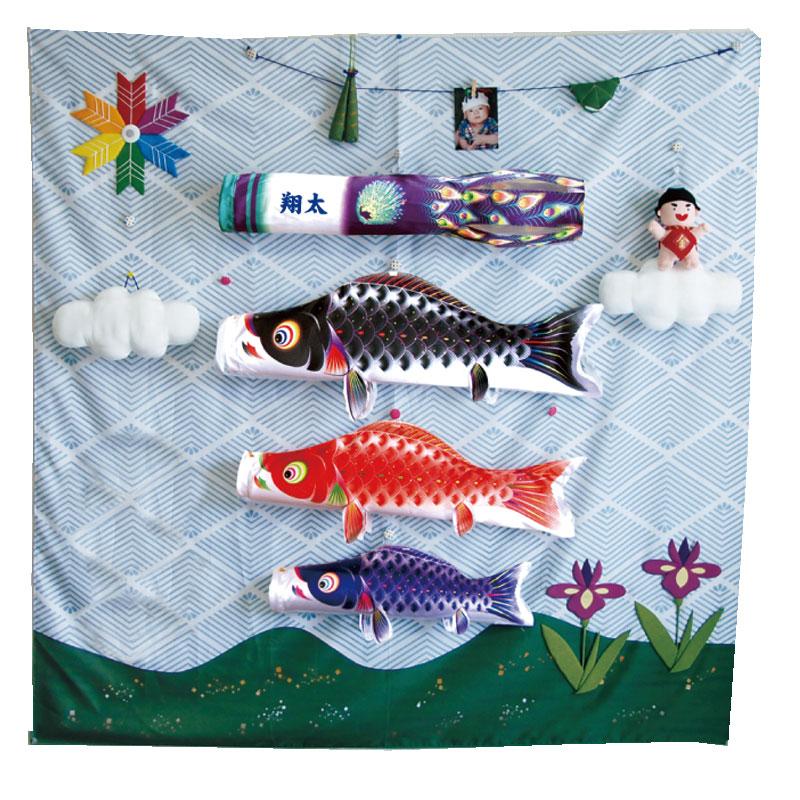 【室内鯉のぼり】室内鯉飾りこいのぼり キャンバス鯉のぼり《集》星歌友禅 徳永鯉 こいのぼり 五月人形 内飾り 室内飾り