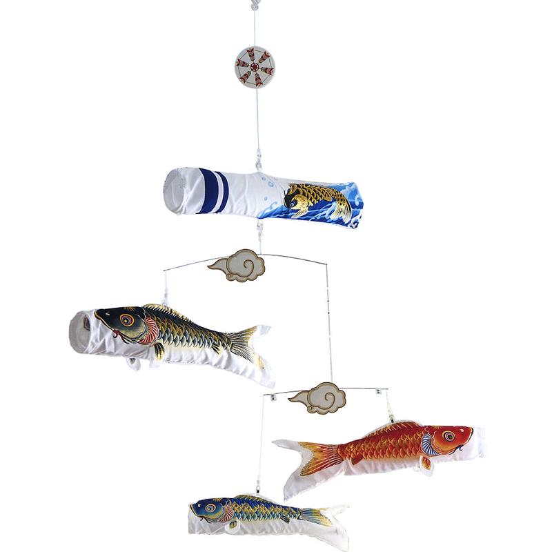【室内鯉のぼり】【吊り下げタイプ】 錦鯉 粋々 すいすい モビール鯉物語 天華 こいのぼり 五月人形 内飾り 室内飾り