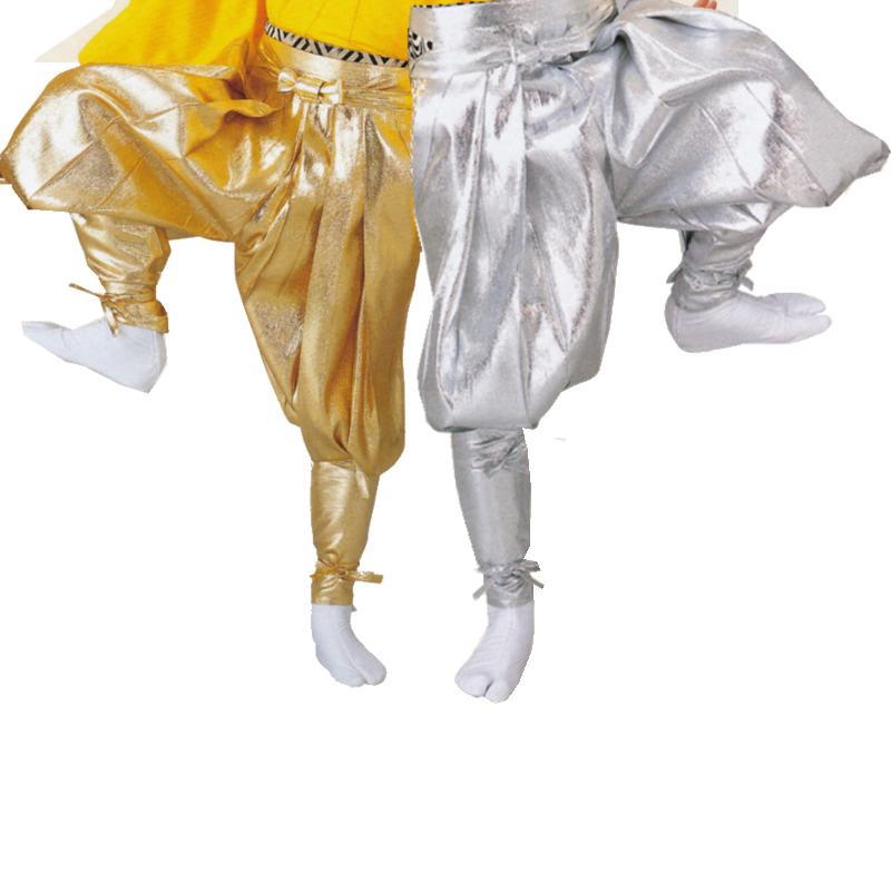 【お祭り用品】【手古舞衣装】たっつけ袴 金・銀 小-大【お祭用品/祭用品/お祭り】8712・8713