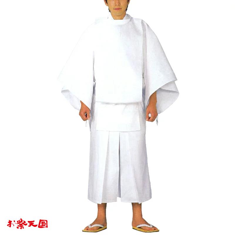 【お祭り用品・衣装】白丁衣装セット M・L C72350【お祭用品/祭用品/お祭り】