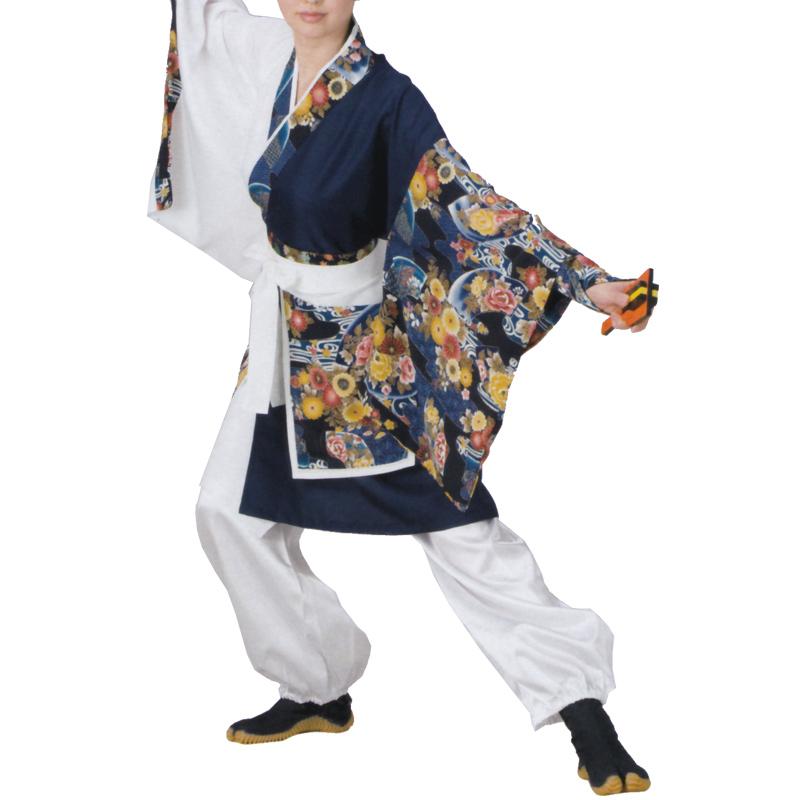 よさこい衣装 B8547【よさこい/踊り衣裳/祭用品/お祭り/祭り小物】【はっぴ・はんてん・半被・袢纏】