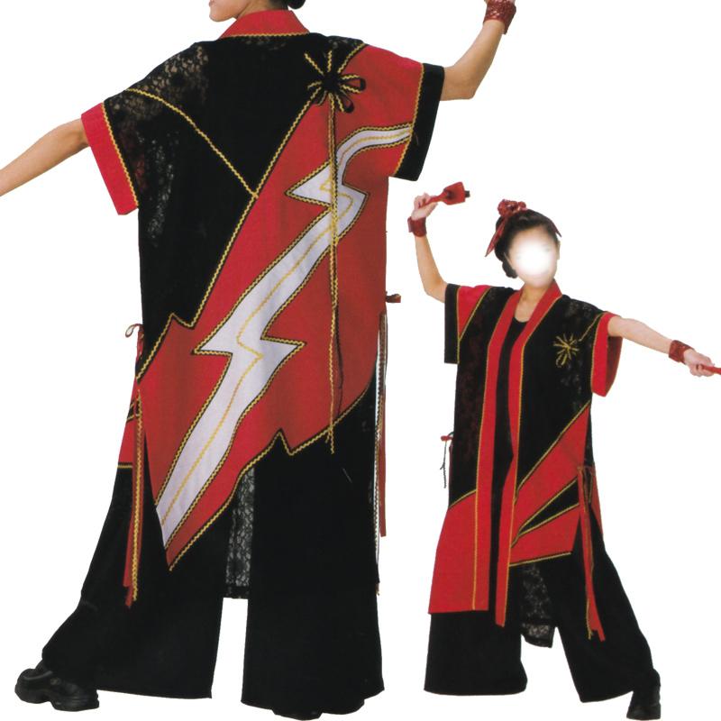よさこい袖なし袢天 C73139【よさこい/踊り衣裳/お祭用品/まつり用品/お祭り】