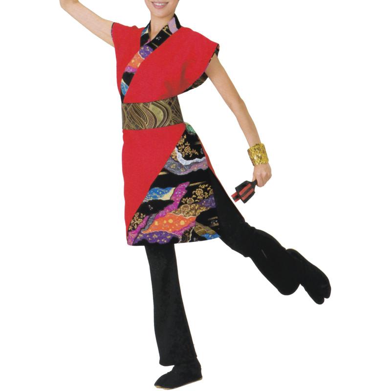 よさこい衣裳 赤 上衣 C73016 M・L【よさこい/踊り衣裳/お祭用品/まつり用品/お祭り】