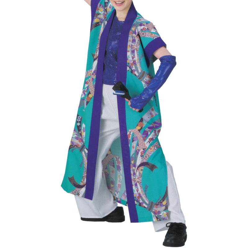 よさこい袖なし袢天 のしめ C73082【よさこい/踊り衣裳/お祭用品/まつり用品/お祭り】