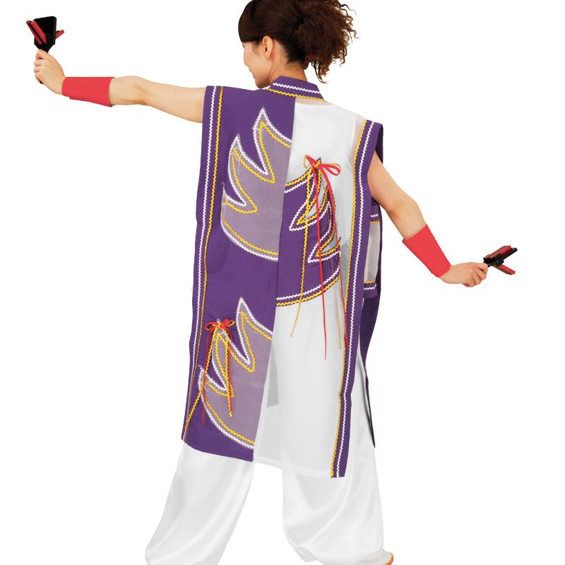 【よさこい衣装】よさこい衣装 上着のみ 紫E7073【お祭用品/祭用品/お祭り/踊り】
