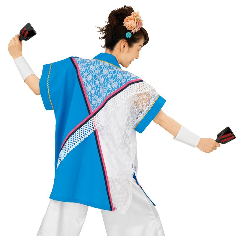 【よさこい衣装】よさこい衣装 上着のみ 水色 青E7076【お祭用品/祭用品/お祭り/踊り】