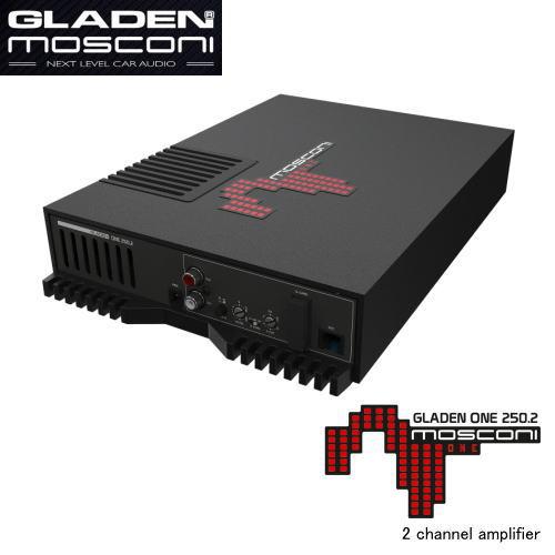 日本正規品 GLADEN MOSCONI グラデン お金を節約 使い勝手の良い 250.22チャンネルAB級アンプ モスコニ ONE 保証書付き
