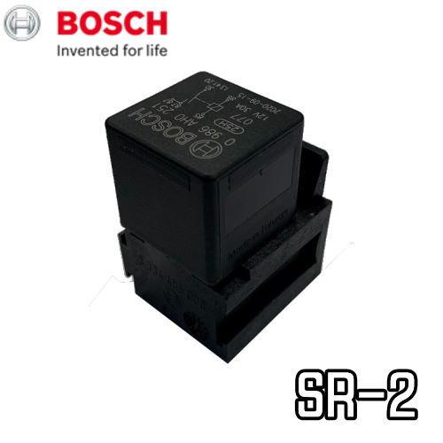 在庫有り BOSCH 新作多数 ボッシュ SR-2 ハイパワーリレー ソケット付 30A 12V用 ●日本正規品● 25万回のスイッチングに耐えるシルバー接点方式採用