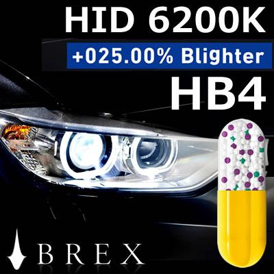 【送料無料】 BREX(ブレックス) BYC313 HID HB4 6200K +025.00%Blighter 欧州車用/HIDキット/バルブ/球切れ警告灯/キャンセラー内蔵/純正交換/長寿命/1年保証/2個セット