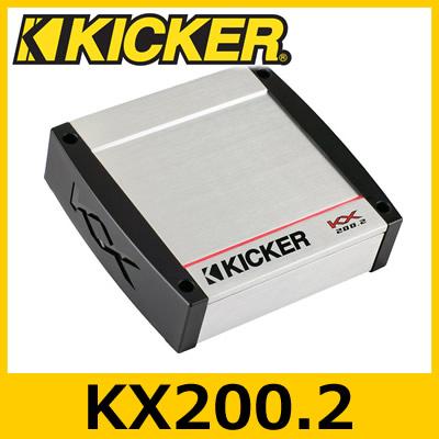 KICKER(キッカー) KX200.2 KXシリーズ 2chパワーアンプ 50W×2ch