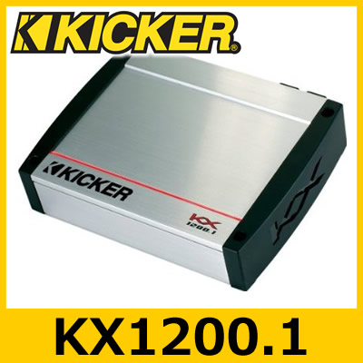 KICKER(キッカー) KX1200.1 KXシリーズ 1chパワーアンプ 600W×1ch