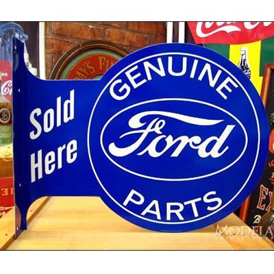 ブリキ看板 Ford フォード フランジ型 アメリカ雑貨/アメ雑貨/ガレージ/インテリア/レトロ/ブリキプレート