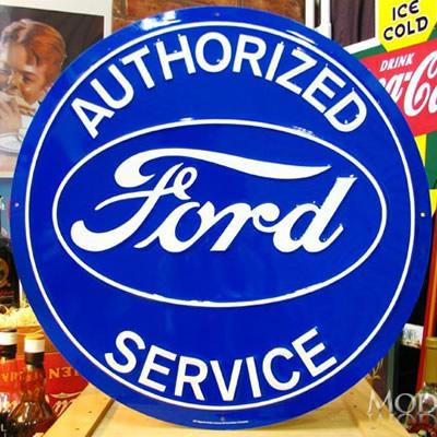 ブリキ看板 Ford フォード 特大サイズ アメリカ雑貨/アメ雑貨/ガレージ/インテリア/レトロ/ブリキプレート