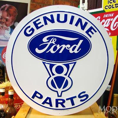 ブリキ看板 FORD フォード V8 特大サイズ アメリカ雑貨/アメ雑貨/ガレージ/インテリア/レトロ/ブリキプレート