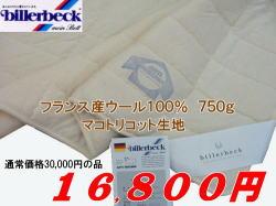 ビラベック wool skin duvet all season single size