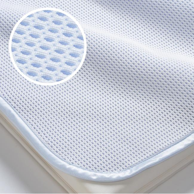 京都西川 ローズアイス敷きパッド 軽量タイプ セミダブルサイズ120cm×205cm ひんやりマット