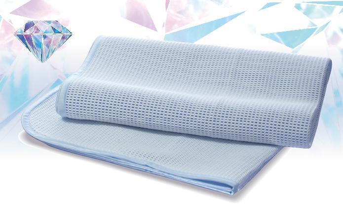 冷感指数最大級 京都西川 ローズアイス敷きパッド DN-60 ダブルサイズ140cm×205cm ひんやり指数最大級 冷たい敷きパッド 接触冷感とハニカムメッシュの両面使い ひんやりマット