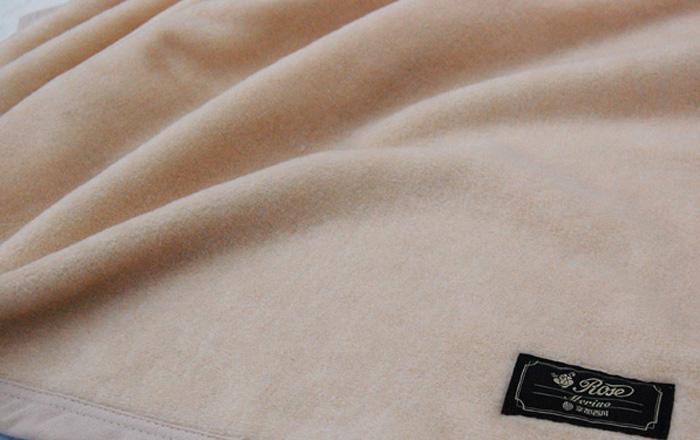 西川 ローズメリノ毛布 【京都西川】 ダブルサイズ 180cm×200cm 西川毛布 ウール毛布 [ベージュ] 日本製 洗える毛布 ウォッシャルブル 洗えるウール毛布