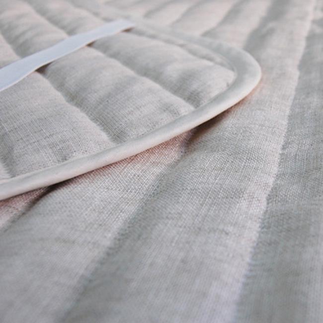 リネンガーゼ 本麻 秀逸 敷きパッド シングルサイズ 生地:麻100% 中綿:綿麻100% 夏に最適 天然素材 肌触り ひえひえ寝具 引出物 クール冷たい
