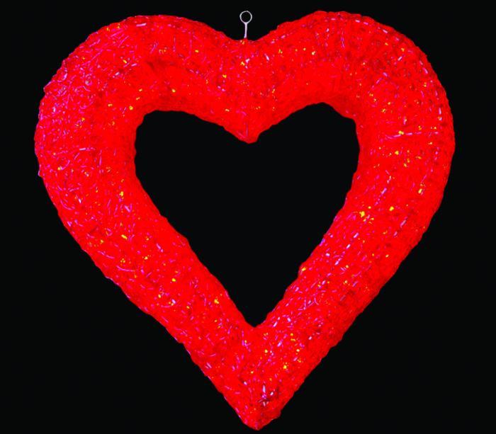 LEDクリスタルグローハート レッド 【イルミネーション】 【送料無料!!】 クリスマスイルミネーションモチーフ 【smtb-k】【w3】