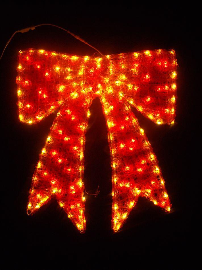 LEDクリスタルグローリボン(小) 【イルミネーション】 クリスマスイルミネーションモチーフ 【送料無料!】