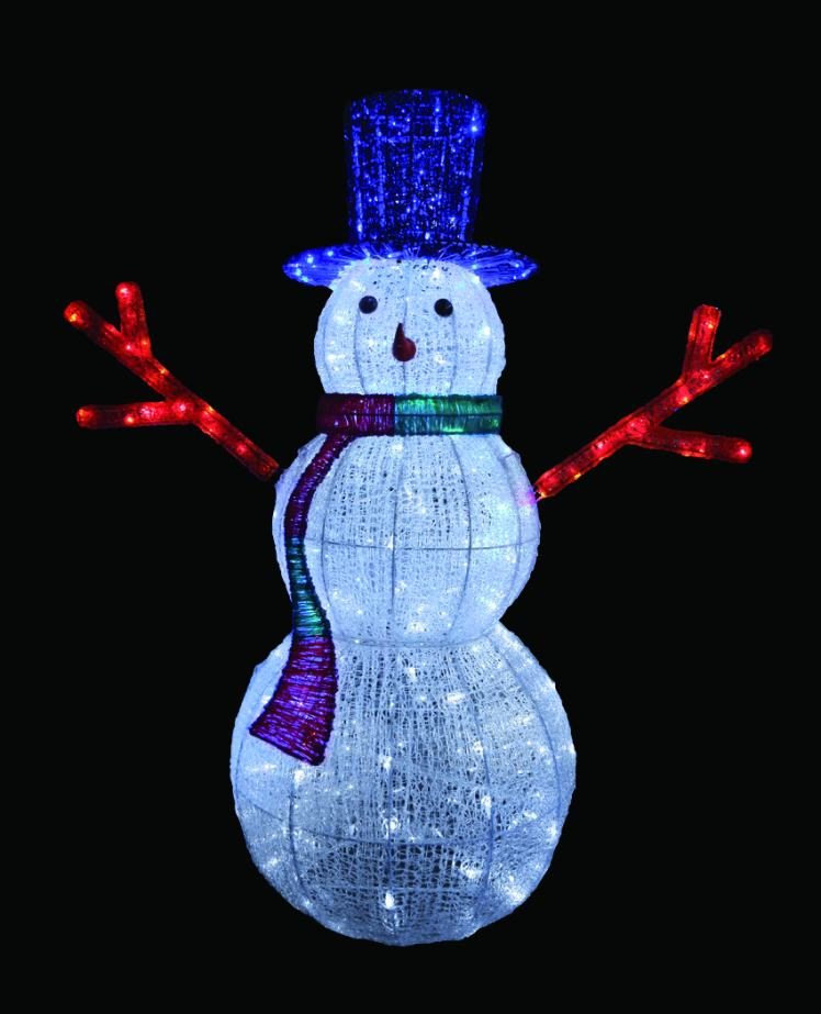 LEDクリスタルグロースノーマン(大) 【イルミネーション】 クリスマスイルミネーションモチーフ 【送料無料!】