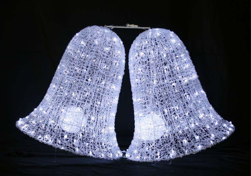 LEDクリスタルグロービッグベル(小) 【イルミネーション】 クリスマスイルミネーションモチーフ 【送料無料!】