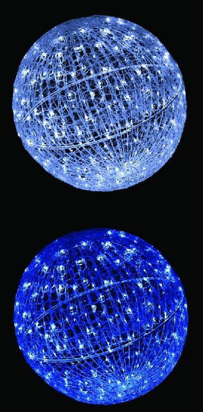 LEDクリスタルグローボール(小) 4色より1色お選びください 【イルミネーション】 クリスマスイルミネーションモチーフ 【送料無料!】