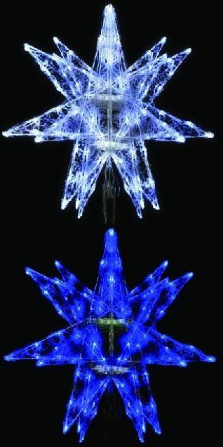 LEDセパレーツギャラクシー(中)6枚羽 4色より1色お選びください 【イルミネーション】 クリスマスイルミネーションモチーフ 【送料無料!】