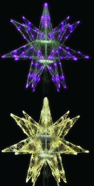 LEDセパレーツギャラクシー(小)6枚羽 4色より1色お選びください 【イルミネーション】 クリスマスイルミネーションモチーフ 【送料無料!】