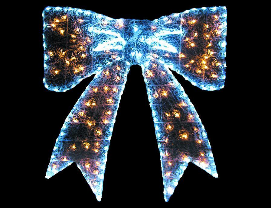 LEDクリスタルグローリボンウォームホワイト(小) 【イルミネーション】 クリスマスイルミネーションモチーフ 【送料無料!】