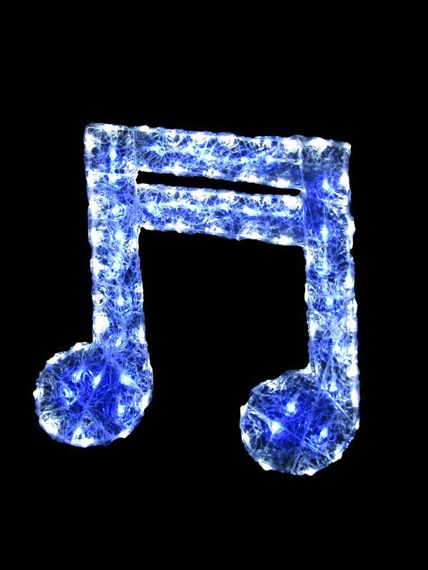 LEDクリスタルグロー16分音符 【イルミネーション】 クリスマスイルミネーションモチーフ