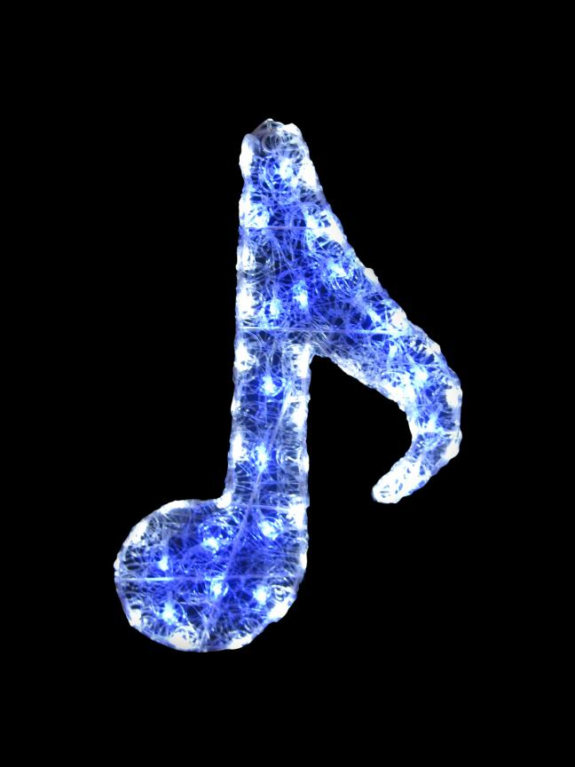 LEDクリスタルグロー8分音符 【イルミネーション】 クリスマスイルミネーションモチーフ