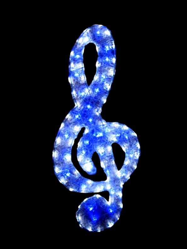 LEDクリスタルグロート音記号 【イルミネーション】 クリスマスイルミネーションモチーフ