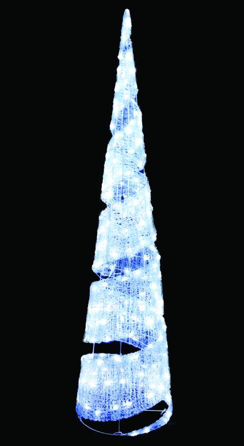 イルミネーション 送料無料 LEDクリスタルグロービッグコーンスパイラル(小)ホワイト クリスマスイルミネーションモチーフ