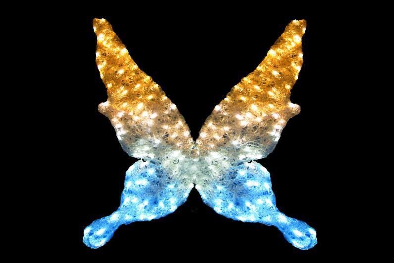 LEDクリスタルグローバタフライ 【イルミネーション】 クリスマスイルミネーションモチーフ 【送料無料!】