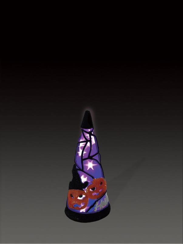 LEDクリスタルグローハロウィンコーンパープル(小) 【イルミネーション】 ハロウィンイルミネーションモチーフ 【送料無料!】