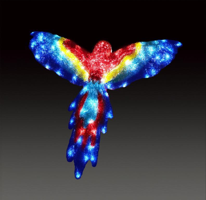 LEDクリスタルグローフライングコンゴウ 【イルミネーション】 クリスマスイルミネーションモチーフ 【送料無料!】
