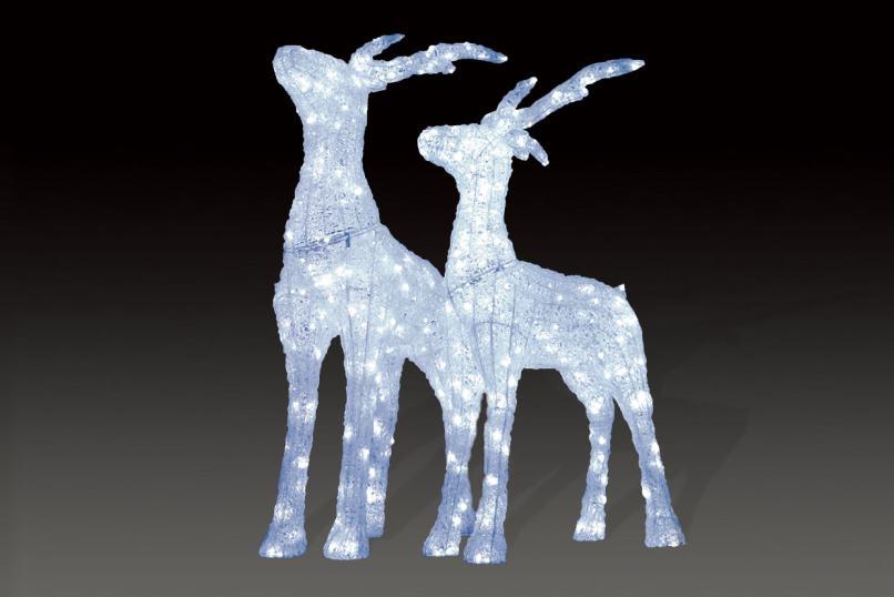 LEDクリスタルグロースタンディングトナカイ(大) 【イルミネーション】 クリスマスイルミネーションモチーフ 【送料無料!】