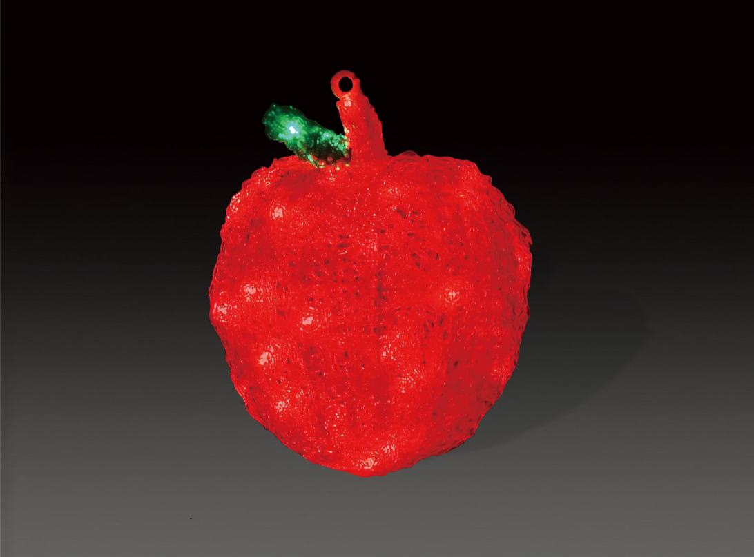 LEDクリスタルグローアップル 【イルミネーション】 クリスマスイルミネーションモチーフ 【送料無料!】