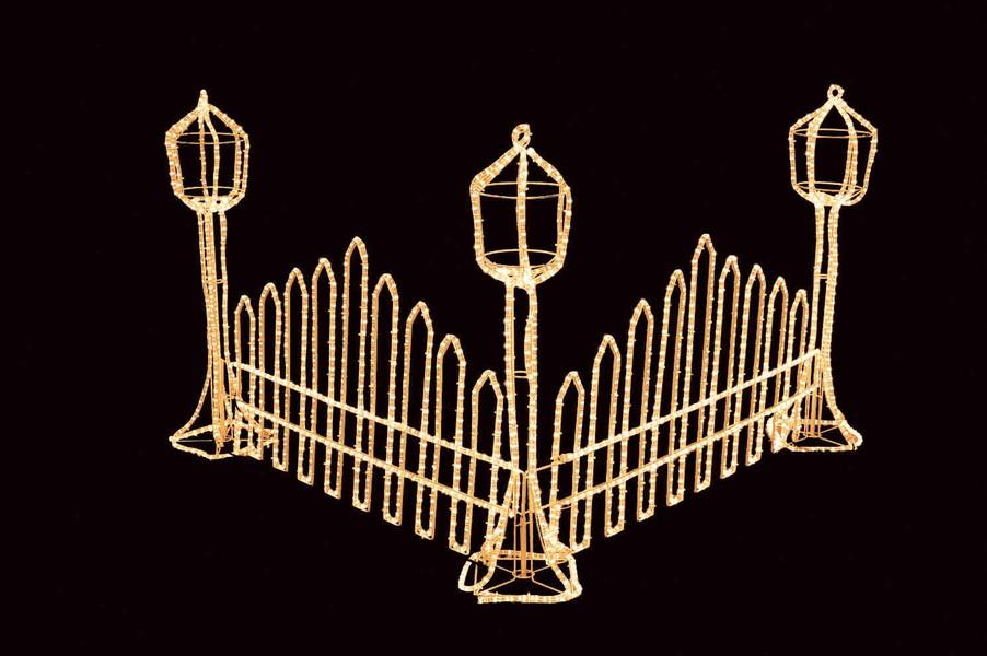 2Dモチーフ ガーデンフェンス 【イルミネーション】 クリスマスイルミネーションモチーフ 【送料無料!!】
